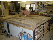 <p>NEW DOORS BEING MADE IN WORKSHOP</p>